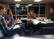 Pre-production cast table read